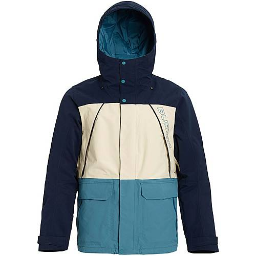 Burton Breach Snowboardjacke Herren dress blue almond milk storm blue im Online Shop von SportScheck kaufen