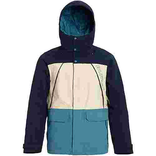 Burton Breach Snowboardjacke Herren dress blue-almond milk-storm blue