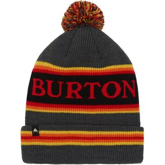 Burton Trope Bommelmütze true black heather