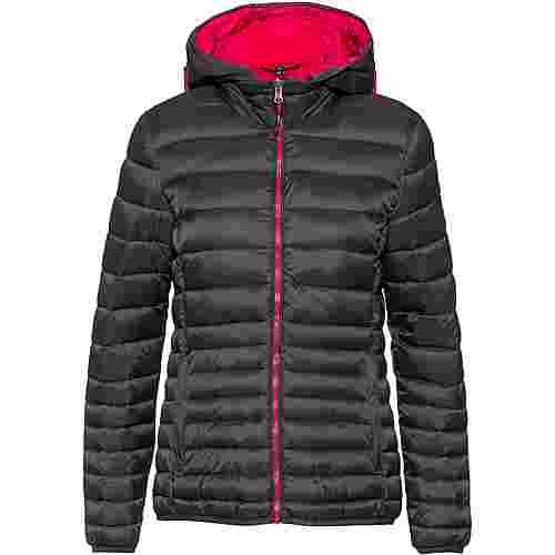 CMP Woman Jacket Zip Hood Steppjacke Damen antracite-rhodamine