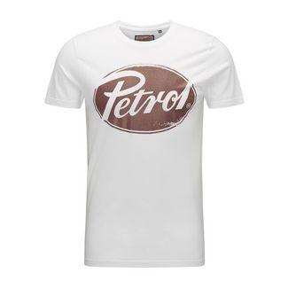 Petrol Industries Printshirt Herren Bright White