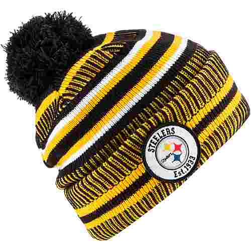 New Era Pittsburgh Steelers Bommelmütze black-yellow