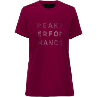 Peak Performance Ground T-Shirt Damen pink caramel
