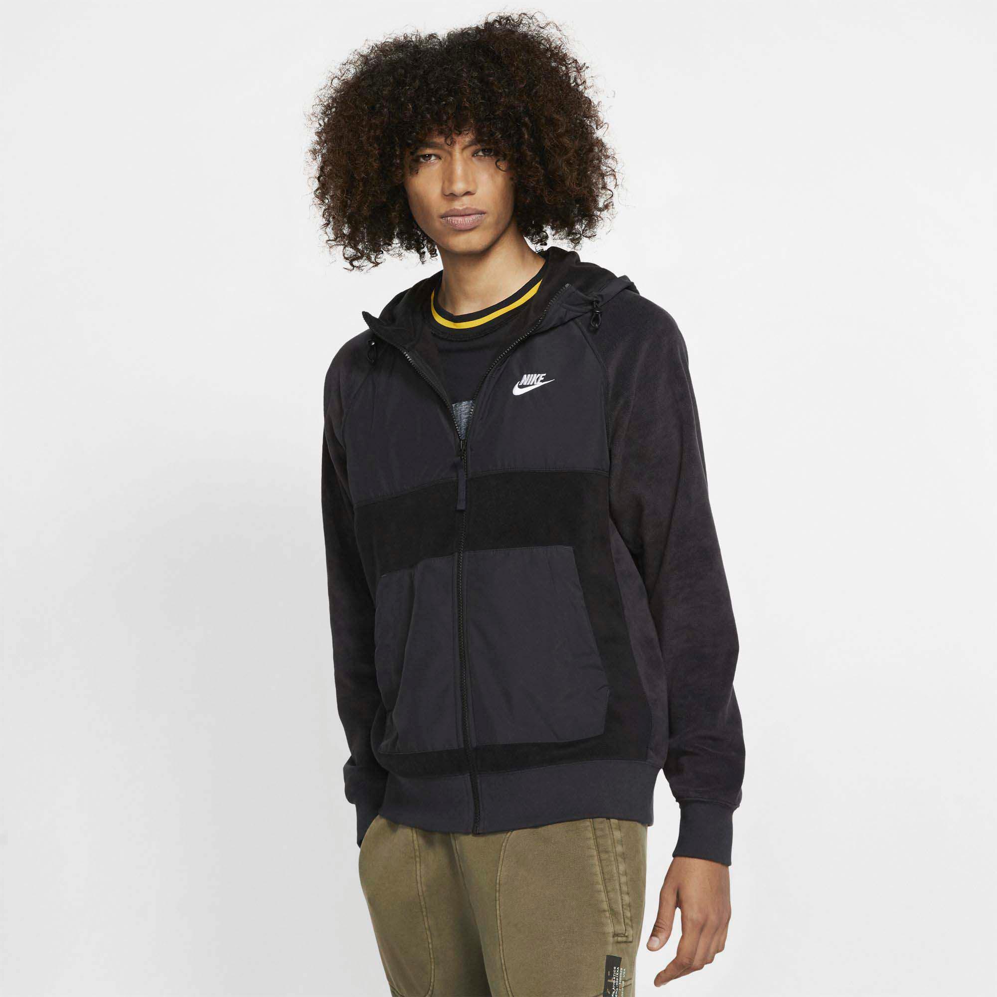 Nike NSW CE Sweatjacke Herren black off noir black white im Online Shop von SportScheck kaufen