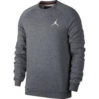 Nike Jumpman Fleece Sweatshirt Herren carbon heather-white