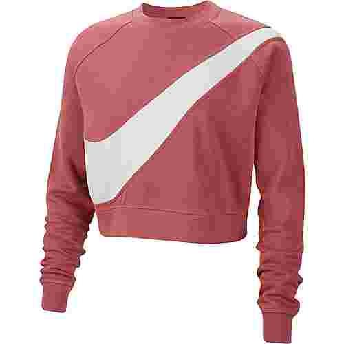 Nike NSW Sweatshirt Damen light redwood-white