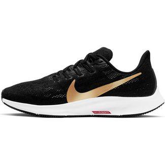 Nike Air Zoom Pegasus 36 Laufschuhe Damen black-metallic gold-university red-white