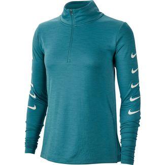 Nike Swoosh Funktionsshirt Damen mineral teal-white