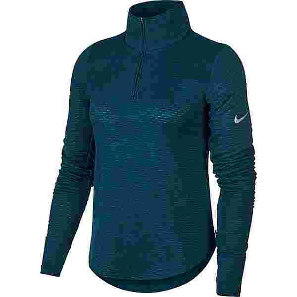 Nike Funktionsshirt Damen midnight turq-black-htr-reflective silver