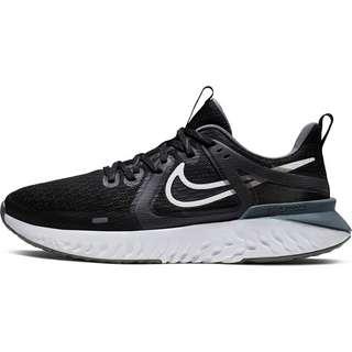 Nike Legend React 2 Laufschuhe Damen black-white-cool grey-mtlc cool grey