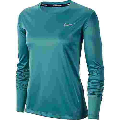 Nike Miler Funktionsshirt Damen mineral teal-reflective silver