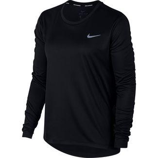 Nike Miler Laufshirt Damen black-reflective silver