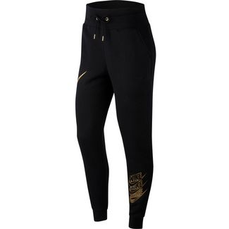 Nike NSW Shine Sweathose Damen black-black-metallic gold
