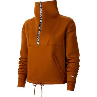 Nike Sweatshirt Damen burnt sienna-metallic silver