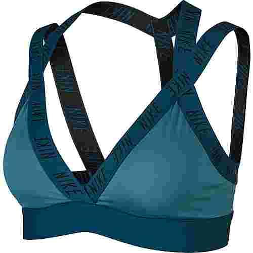Nike Indy Logo Sport-BH Damen mineral teal-midnight turq-black