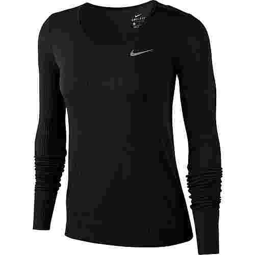 Nike Infinite Funktionsshirt Damen black-reflective silver
