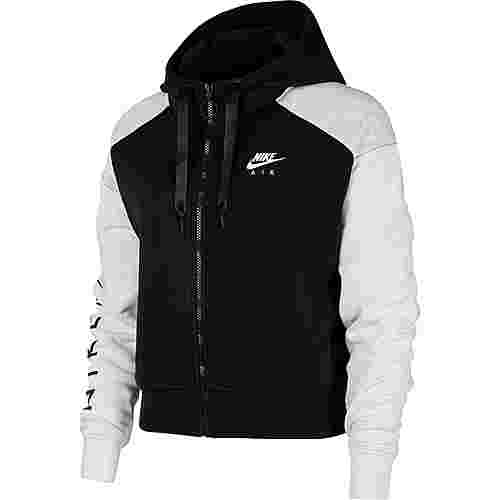 Nike NSW Air Sweatjacke Damen black-birch heather-white
