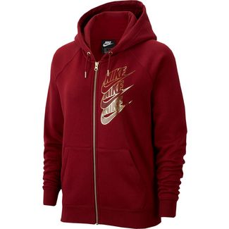 Nike NSW Shine Sweatjacke Damen team red-team red-metallic gold