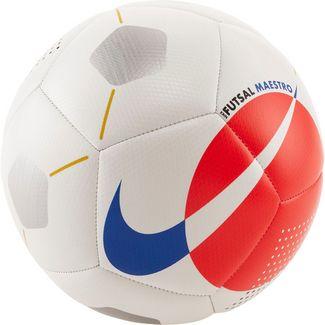 Nike NK FUTSAL MAESTRO Fußball white-bright crimson-racer blue