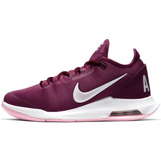 Nike W AIR MAX WILDCARD HC Tennisschuhe Damen bordeaux-white-pink rise