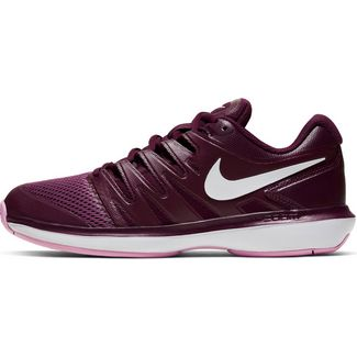 Nike W AIR ZOOM PRESTIGE HC Tennisschuhe Damen bordeaux-white-pink rise