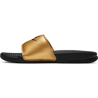 Nike Benassi JDI Sandalen Damen black-black-metallic gold