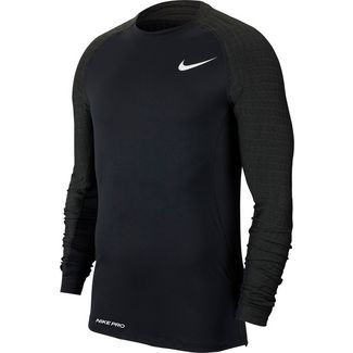Nike Pro Utility Therma Funktionsshirt Herren black-black-white