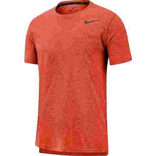 Nike Breathe Hyper Dry Funktionsshirt Herren lt tm ornge htr-htr-black
