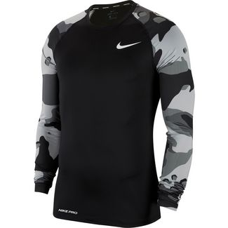 Nike Pro Camo 1 Trainingsshirt Herren black-white