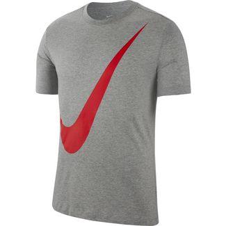 Nike NSW Swoosh 1 T-Shirt Herren dk grey heather-university red