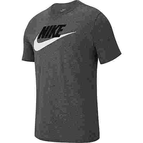 Nike NSW Futura T-Shirt Herren dk grey heather-black-white