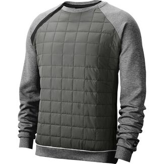 Nike NSW Sweatshirt Herren dark grey heather-black