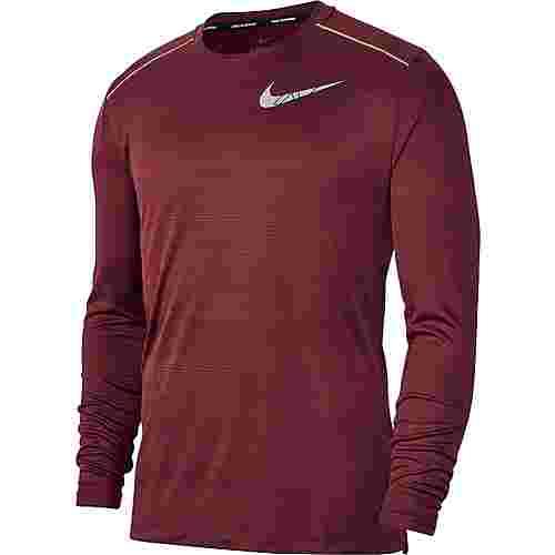 Nike Dryfit Miler Flash Funktionsshirt Herren night maroon-reflective silv