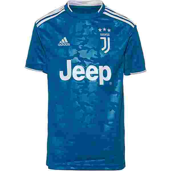 adidas Juventus Turin 19/20 3rd Trikot Kinder unity blue-aero blue