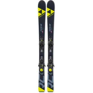 Fischer RC4 Race Jr. mit FJ7 GW AC SLR All-Mountain Ski Kinder schwarz-gelb