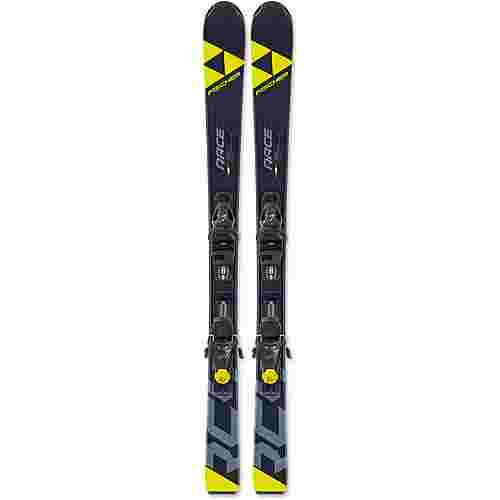 Fischer RC4 Race Jr. mit FJ7 GW AC SLR All-Mountain Ski Kinder schwarz-gelb