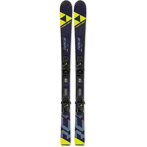 Fischer RC4 Race Jr. mit FJ4 GW AC SLR All-Mountain Ski Kinder schwarz-gelb