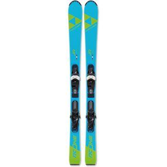 Fischer RC One Jr. mit FJ4 GW AC SLR All-Mountain Ski Kinder blau-grün