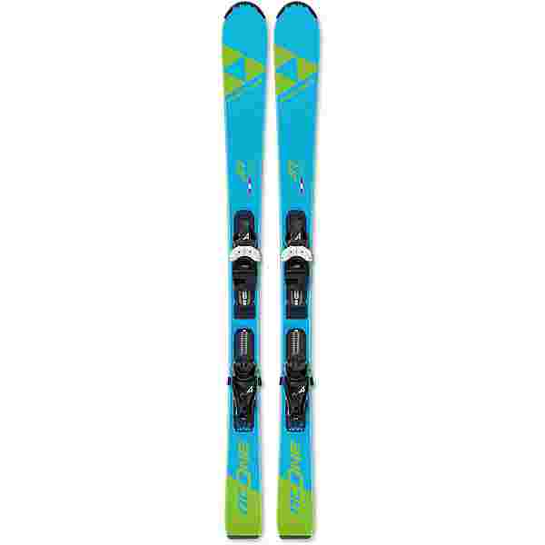 Fischer RC One Jr. mit FJ4 GW AC SLR All-Mountain Ski Kinder blau-grün