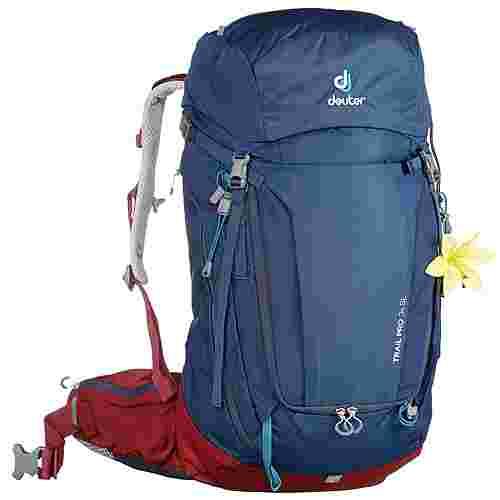 Deuter Trail Pro 34SL Wanderrucksack Damen midnight-maron
