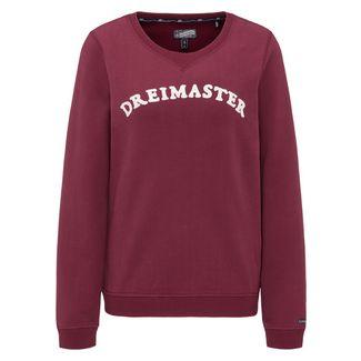 DreiMaster Sweatshirt Damen weinrot