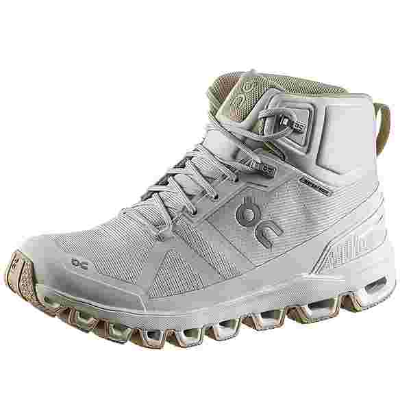 ON Cloudrock Waterproof Wanderschuhe Damen glacier-sand