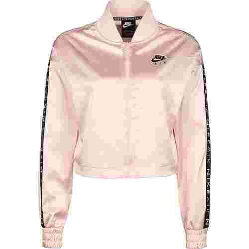 Nike Air Satin Track Kurzjacke Damen rosa / schwarz