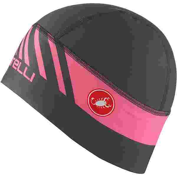 castelli ARRIVO 3 Helmmütze dark gray-giro pink
