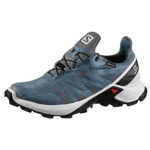 Salomon Supercross GTX W Trailrunning Schuhe Damen bluestone-white-india ink