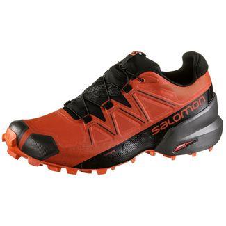 Salomon GTX® Speedcross 5 Trailrunning Schuhe Herren valiant poppy-black-cherry to