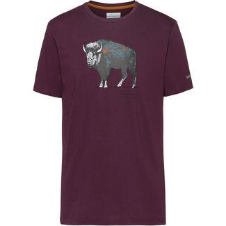 Columbia Muir Pass T-Shirt Herren black cherry-range roam pattern