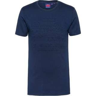 Superdry T-Shirt Herren buck blue marl