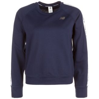 NEW BALANCE Relentless Crew Sweatshirt Damen dunkelblau