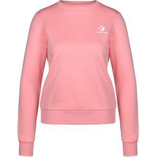 CONVERSE Star Chevron Embroidered Crew Sweatshirt Damen rosa